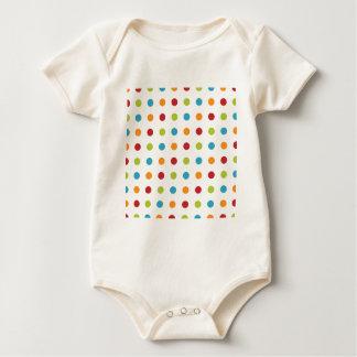 Multicolored Polka Dots Baby Bodysuit