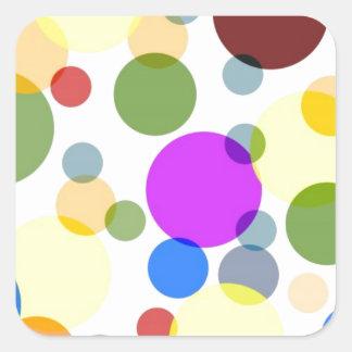 Multicolored Polka Dots Design Square Sticker