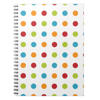 Multicolored Polka Dots Notebooks
