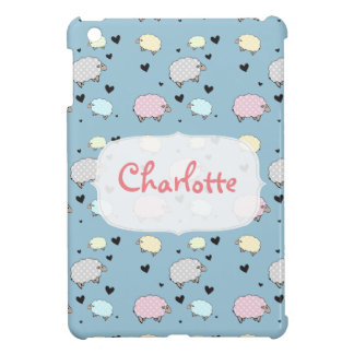 Multicolored Polkadot Pastel Sheep iPad Mini Cases