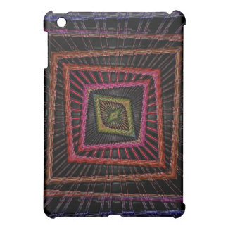 Multicolored psychedelic squares iPad mini case