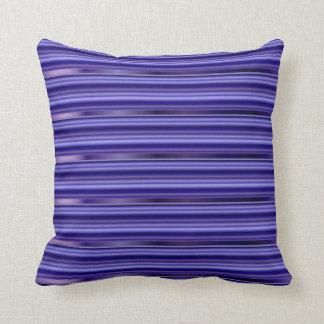 Multicolored Purple Metallic Pin Stripes Throw Pillow
