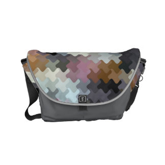Multicolored Puzzle Pattern Messenger Bag