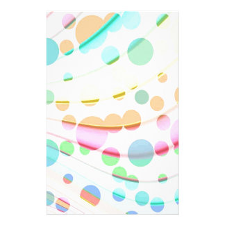 Multicolored rainbow pattern with clear bubbles stationery