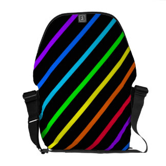 Multicolored Rainbow Stripes - Messenger Bag