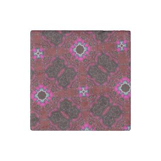 multicolored random pattern stone magnet