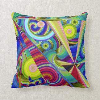 Multicolored Rays Cushion