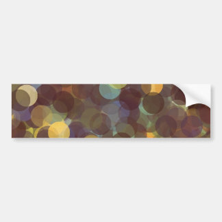 Multicolored Rays of Light Pattern Car Bumper Sticker