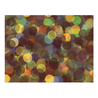Multicolored Rays of Light Pattern Post Card