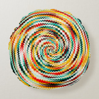 Multicolored Round Cushion