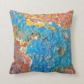 Multicolored Rusty Texture Cushion