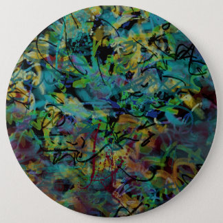 Multicolored Scribbled Abstract Art 6 Cm Round Badge