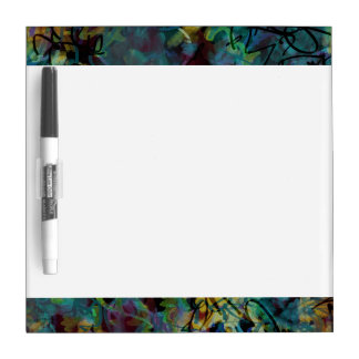 Multicolored Scribbled Abstract Art Dry-Erase Board