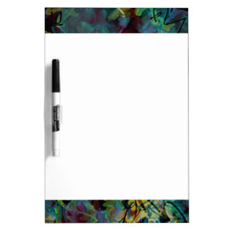 Multicolored Scribbled Abstract Art Dry Erase Board