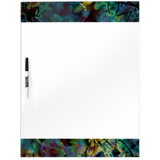 Multicolored Scribbled Abstract Art Dry-Erase Boards