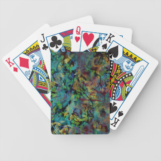 Multicolored Scribbled Abstract Art Poker Deck
