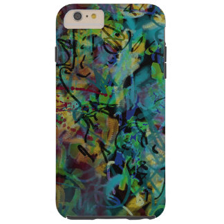 Multicolored Scribbled Abstract Art Tough iPhone 6 Plus Case