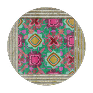 MultiColored Shapes Pattern Cutting Board