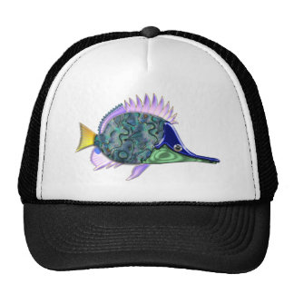 Multicolored Shiny Tang Tropical Fish Trucker Hat