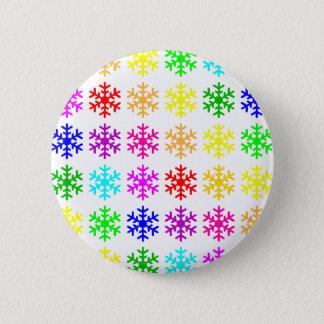 Multicolored Snowflakes Round 6 Cm Round Badge