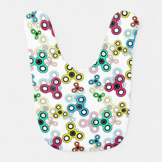 Multicolored spinners bib