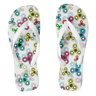 Multicolored spinners thongs