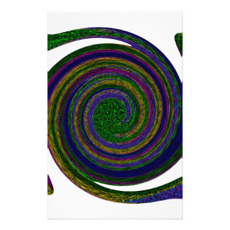 Multicolored spiral abstract art Swirl blue purple Personalized Stationery