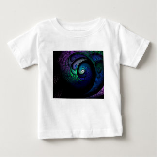 Multicolored spiral fractal picture on the dark baby T-Shirt