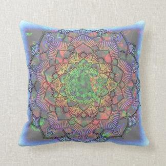 Multicolored Splatter Watercolor Mandala Cushion