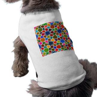 Multicolored Star Pattern - Silk Painting inspired Sleeveless Dog Shirt