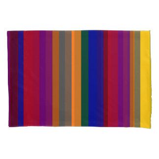 Multicolored Striped Pillowcase