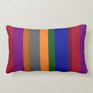 Multicolored Striped Throw Pillow