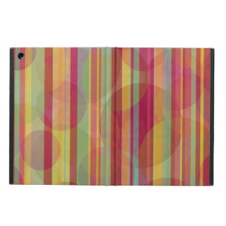 Multicolored stripes and circles iPad air cover