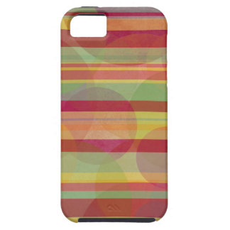 Multicolored stripes and circles tough iPhone 5 case