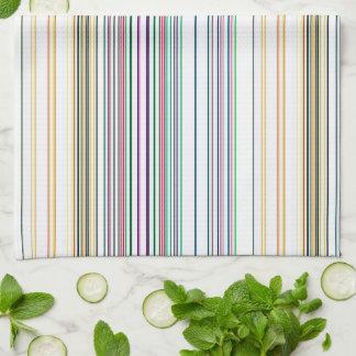 Multicolored Stripes Tea Towel