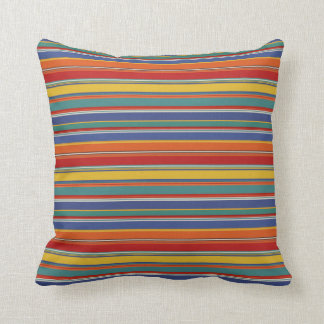 Multicolored Stripes Throw Pillow