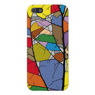 multicolored surfaces in dark branches iPhone 5 case