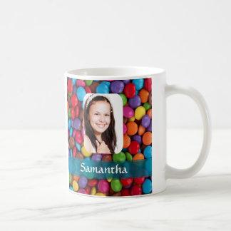 Multicolored sweets photo template coffee mugs