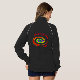 Multicolored swirl jacket