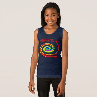 Multicolored swirl singlet