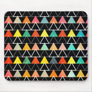 Multicolored triangles geometry pattern mouse pad