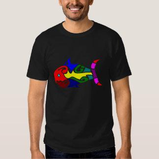 Multicolored Tribal Fish T-shirt