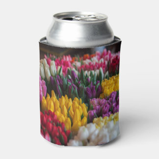Multicolored Tulips Can Cooler