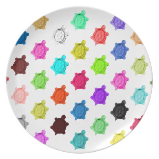 Multicolored Turtle Pattern Plate