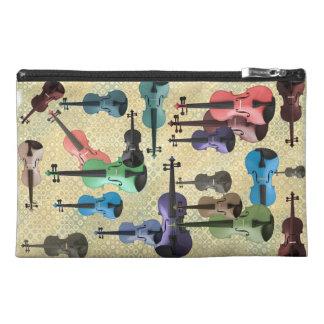 Multicolored Violin Wallpaper Travel Accessory Bag
