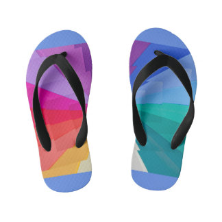 multicolored vortex on  Flip Flops, Kids Kid's Thongs