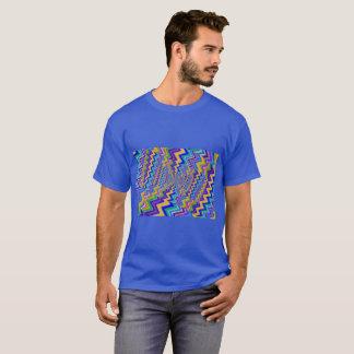 multicolored vortex on Men's Basic Dark  T-Shirt