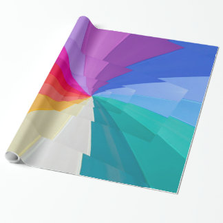 multicolored vortex on wrapping glossy paper