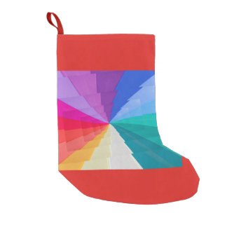 multicolored vortex onChristmas Stocking
