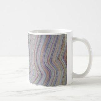 multicolored waves coffee mug